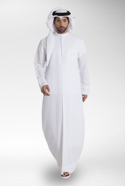 Blue White Kuwaiti Kandora